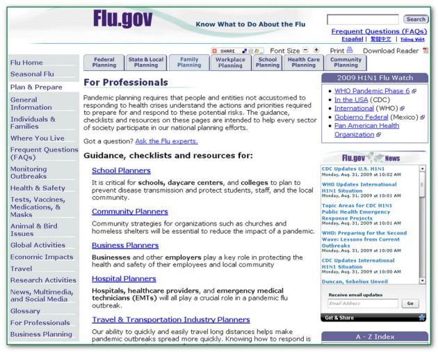 FluGovforProfessionals