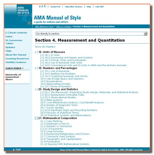AMAManualofStyleSection4MeasurementandQuantitation